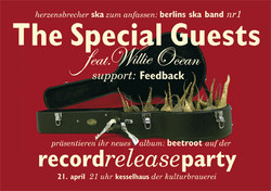 Flyer: The Special Guests Record Release Party zur CD Beetroot (Vorn)